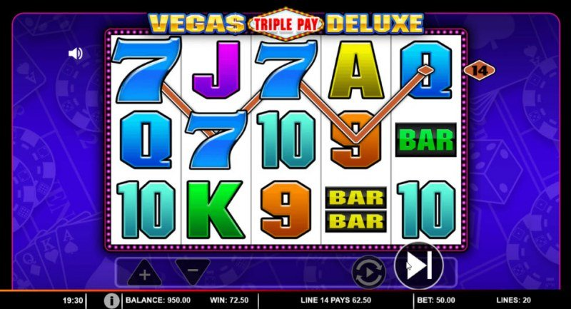 Vegas Triple Pay Deluxe :: Three of a kind