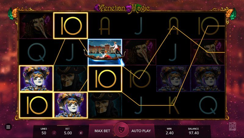 Venetian Magic :: Multiple winning paylines