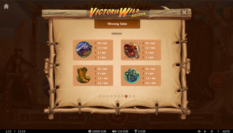 Victoria Wild Deluxe :: Paytable - Medium Value Symbols
