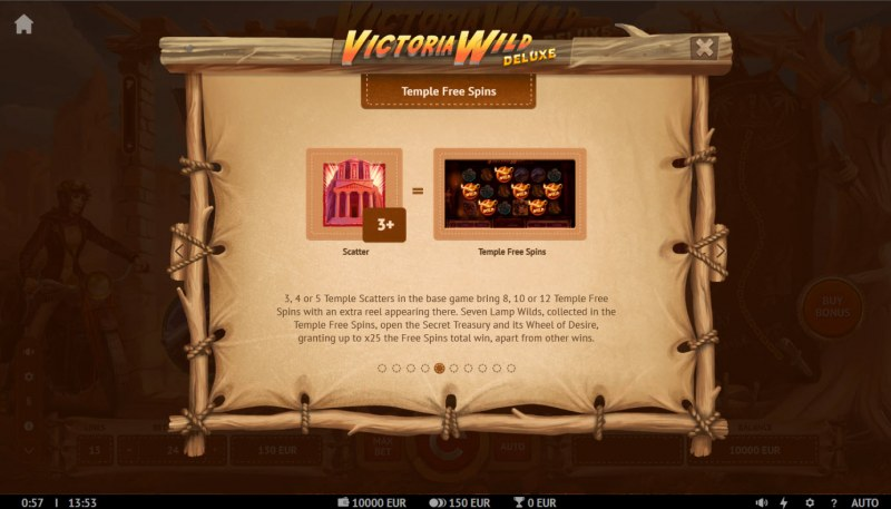 Victoria Wild Deluxe :: Temple Free Spins