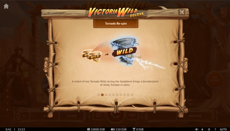 Victoria Wild Deluxe :: Tornado Re-Spin Feature