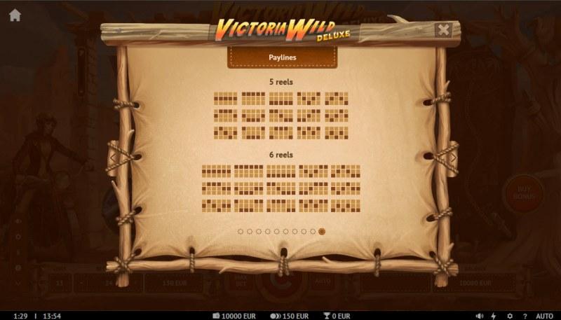 Victoria Wild Deluxe :: Paylines