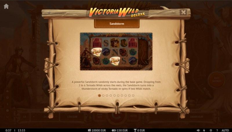 Victoria Wild Deluxe :: Sandstorm Feature