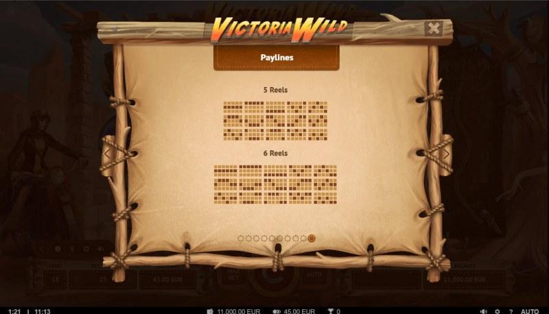 Victoria Wild :: Paylines 1-15