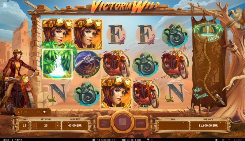 Victoria Wild :: Collect oasis symbols and win free games