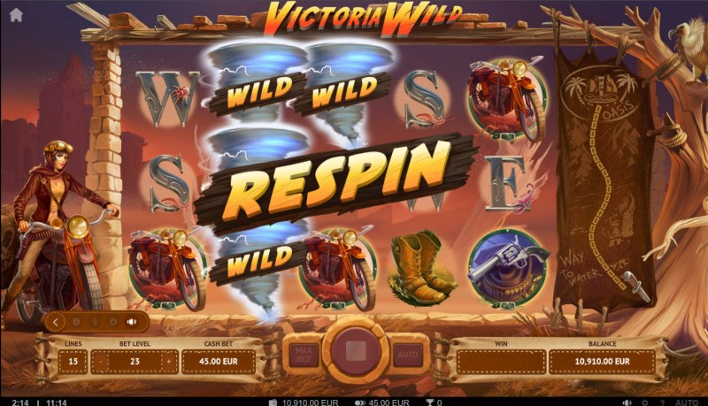 Victoria Wild :: Respin activated
