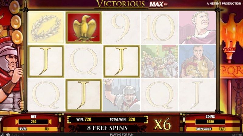 Victorious MAX :: Free Spins Game Board