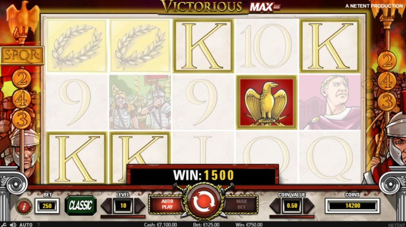 Play slots at Fun Casino: Fun Casino featuring the Video Slots Victorious MAX with a maximum payout of $875,000