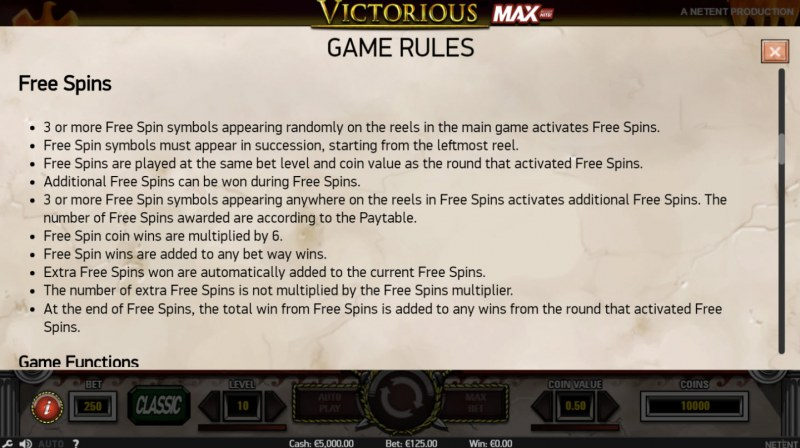 Victorious MAX :: General Game Rules