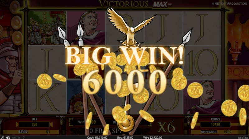 Victorious MAX :: Total free spins payout