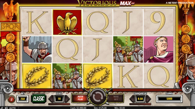 Victorious MAX :: Scatter symbols triggers the free spins feature