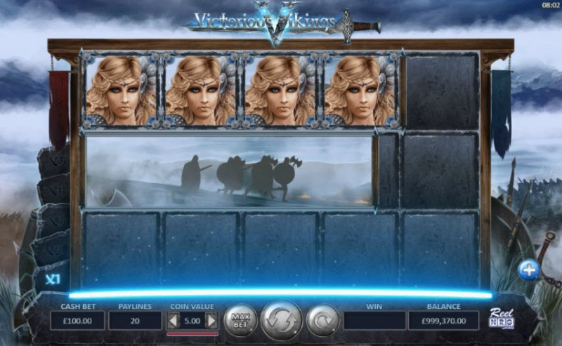 Victorious Vikings :: Character symbols are randomly added to the reels