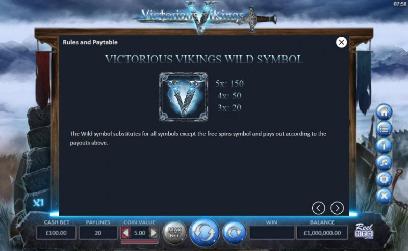 Victorious Vikings :: Wild Symbols Rules