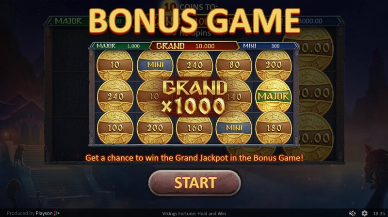 Viking Fortune Hold and Win :: Bonus game triggered
