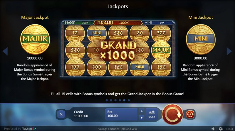 Viking Fortune Hold and Win :: Jackpot Rules