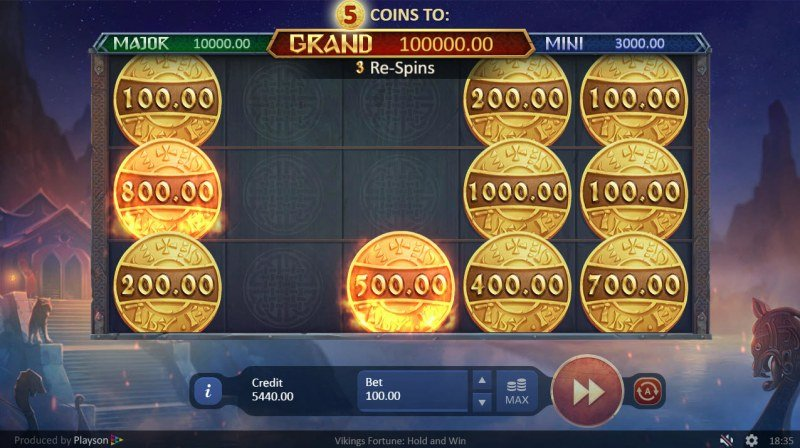 Viking Fortune Hold and Win :: Respins continue until no more bonus symbols land on the reels