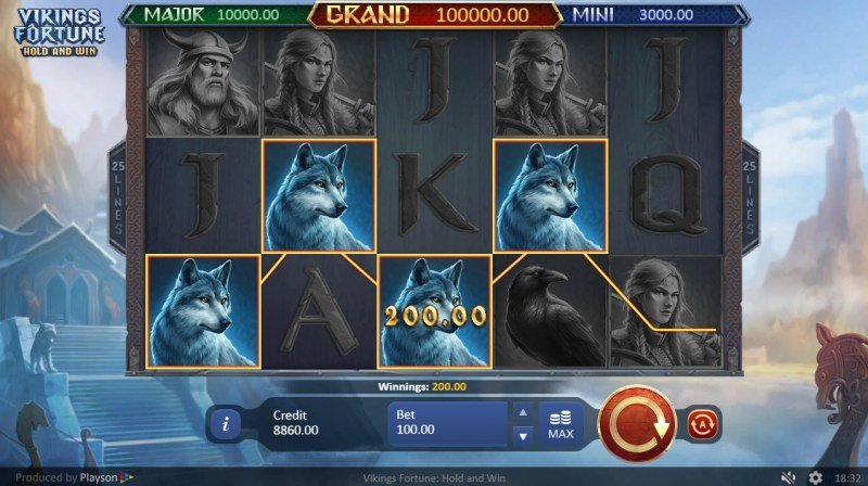 Viking Fortune Hold and Win :: Four of a kind