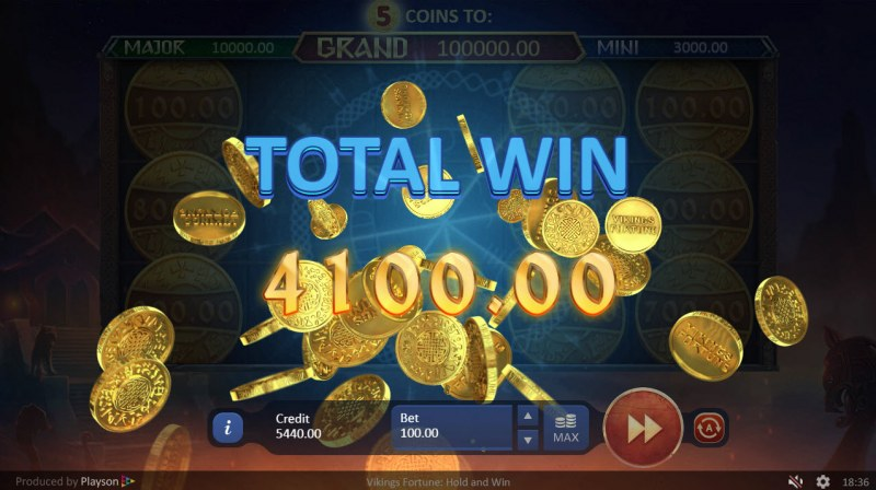 Viking Fortune Hold and Win :: Total bonus payout