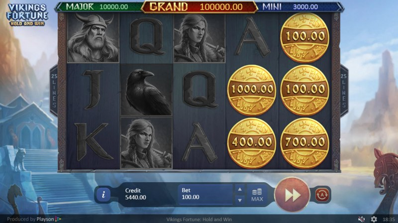 Viking Fortune Hold and Win :: Scatter symbols triggers bonus feature