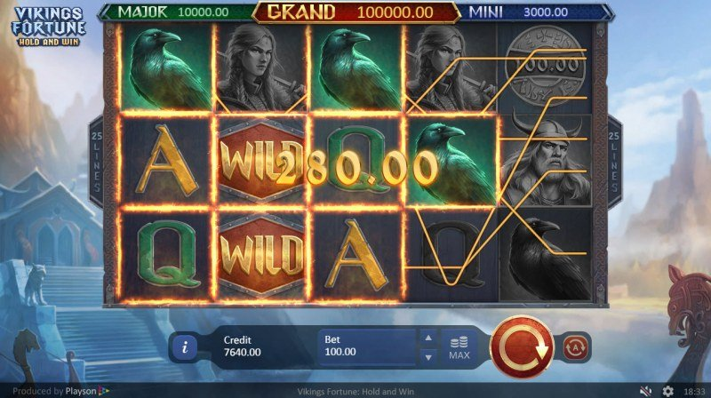 Viking Fortune Hold and Win :: Multiple winning paylines