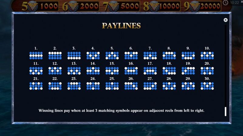 Viking Glory :: Paylines 1-30