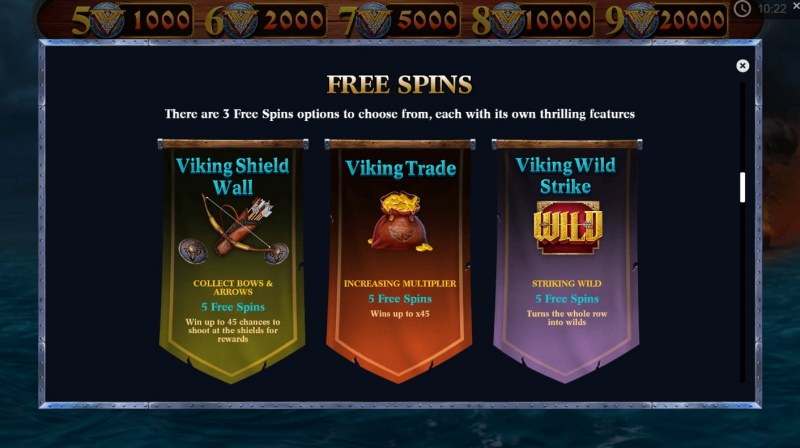 Viking Glory :: Free Spins Rules