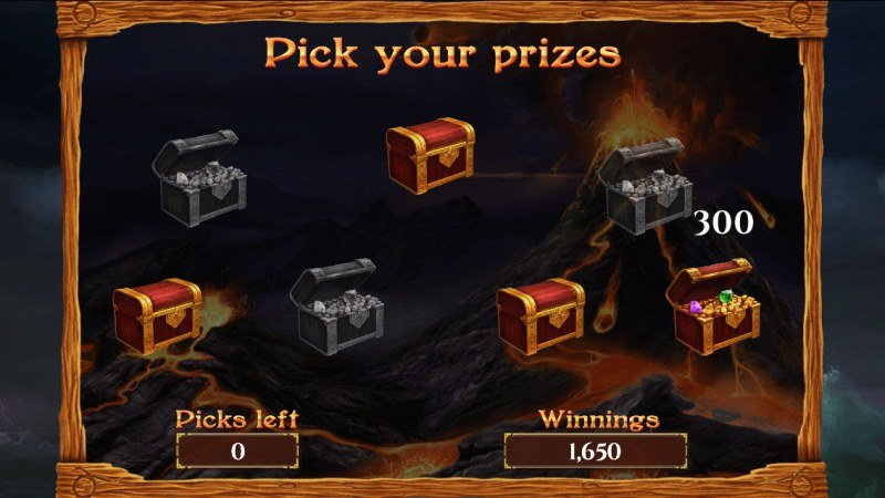 Viking & Gods 2 15 Lines :: Pick treasure chest and a reveal a cash award
