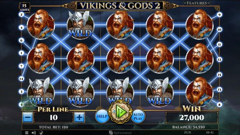 Viking & Gods 2 15 Lines :: Mega Win