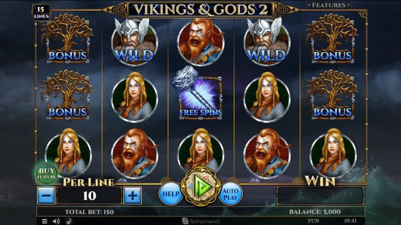 Viking & Gods 2 15 Lines :: Main Game Board