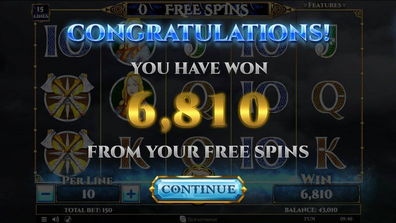 Viking & Gods 2 15 Lines :: Total free spins payout