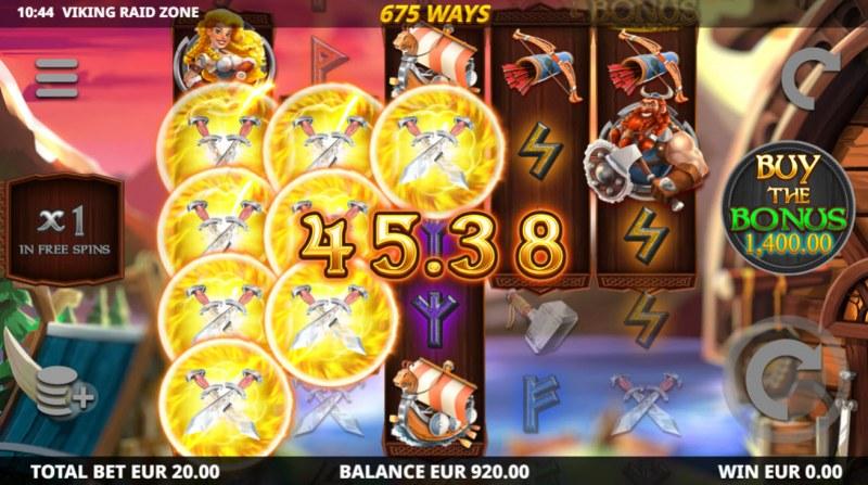 Viking Raid Zone :: Multiple winning paylines