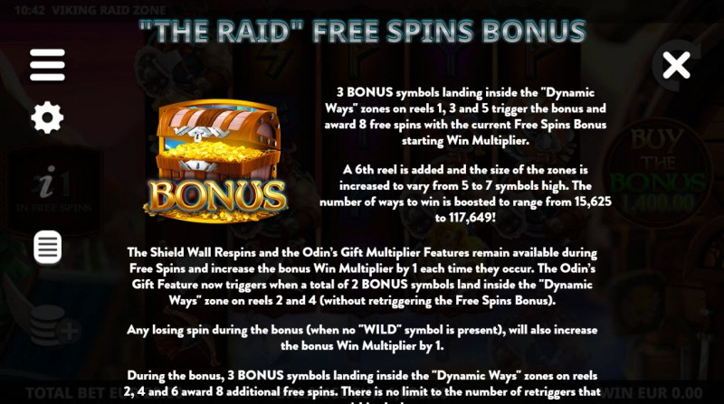 Viking Raid Zone :: Free Spin Feature Rules