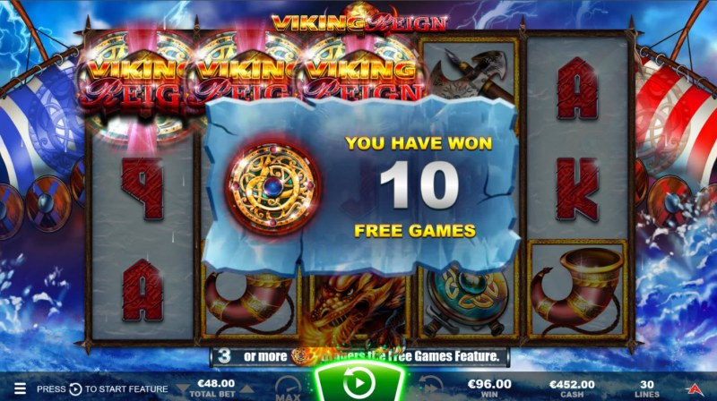 Viking Reign :: 10 free spins awarded