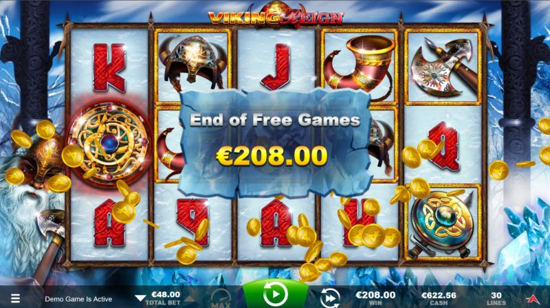 Viking Reign :: Total Free Spins Payout