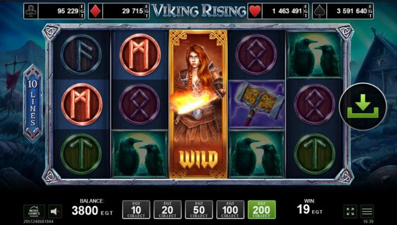 Viking Rising :: A three of a kind win