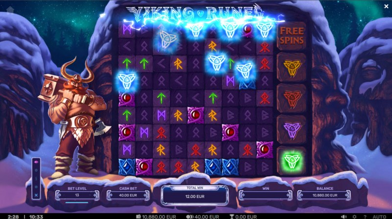Viking Runes :: Lightning Wild feature activated