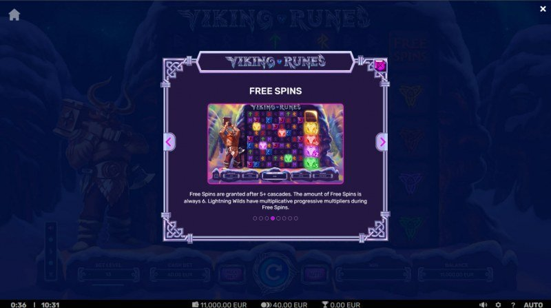 Viking Runes :: Free Spin Feature Rules