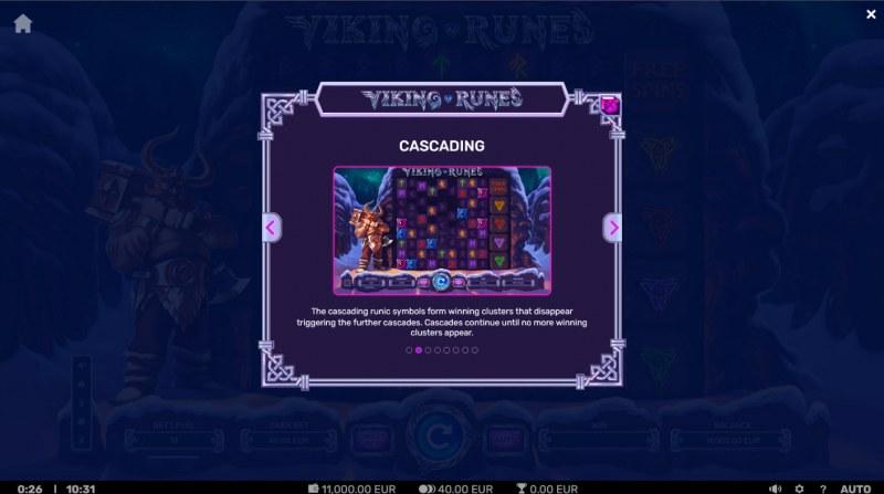 Viking Runes :: Cascading Feature