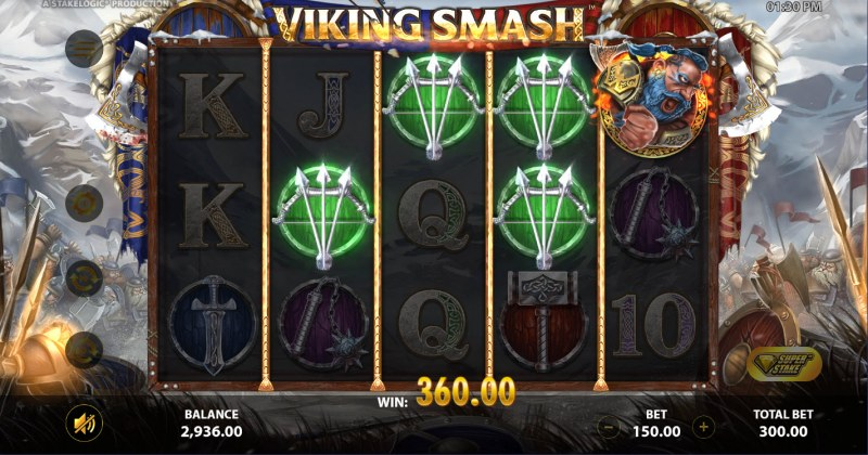 Viking Smash :: A four of a kind win