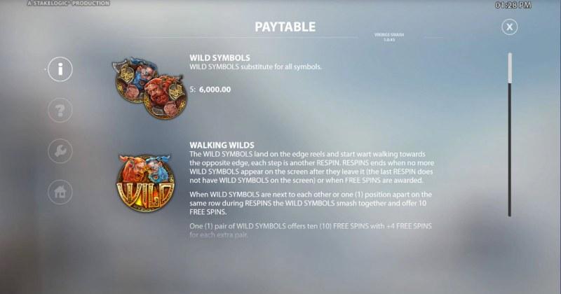 Viking Smash :: Wild Symbol Rules