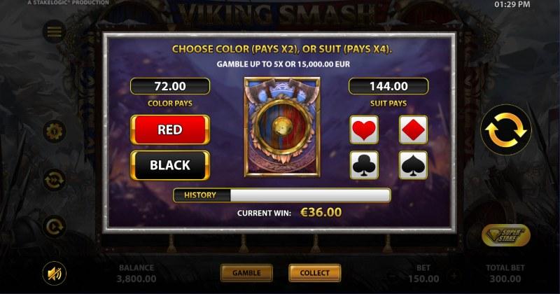 Viking Smash :: Gamble feature