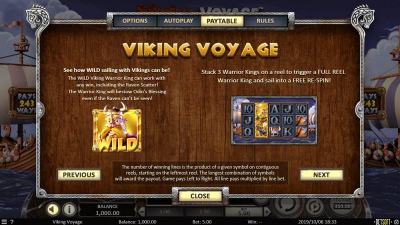 Viking Voyage :: Wild Symbols Rules