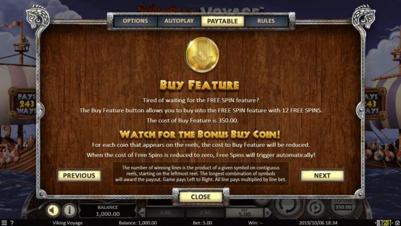 Viking Voyage :: Buy Feature
