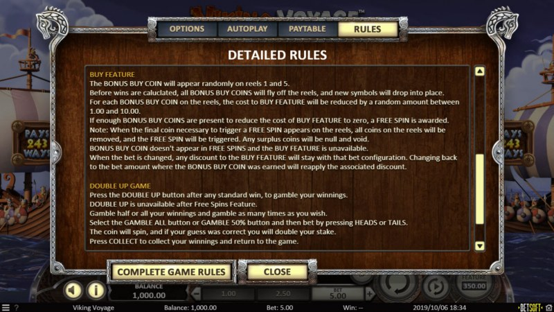 Viking Voyage :: Feature Rules