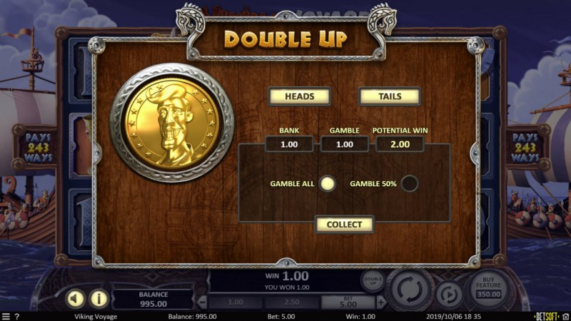 Viking Voyage :: Double Up Feature
