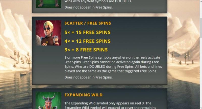 Vikingdom :: Free Spins Rules
