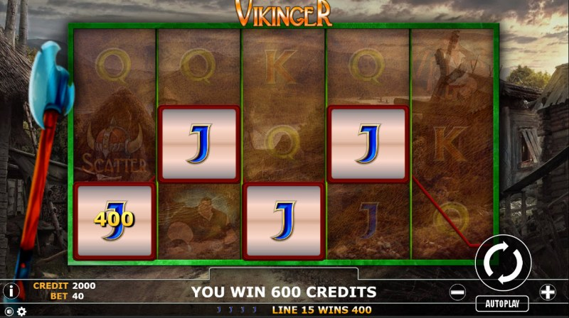 Vikinger :: Four of a kind Win
