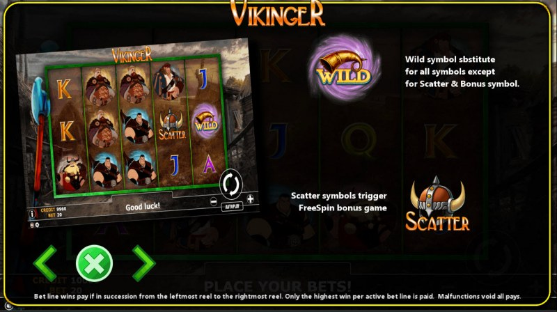 Vikinger :: Wild and Scatter Rules