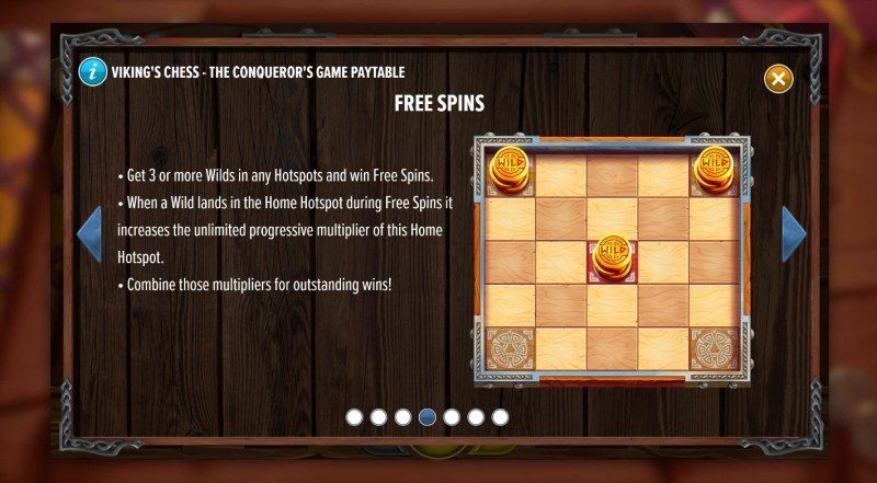 Viking's Chess The Conqueror's Game :: Free Spin Feature Rules