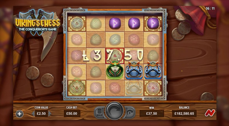 Viking's Chess The Conqueror's Game :: A three of a kind win